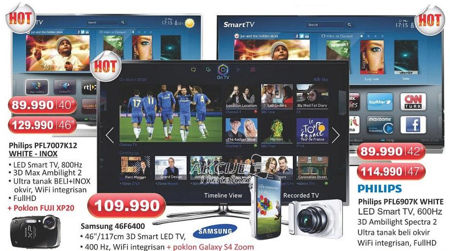 Televizor Smart PFL7007K/12 White - Inox + poklon FUJI XP20