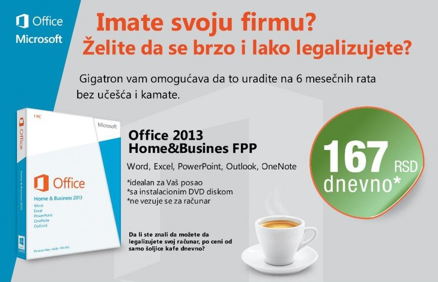 Office 2013 Home & Busines FPP