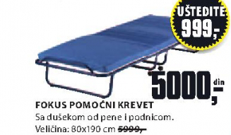 Pomoćni krevet FOKUS
