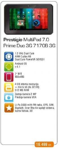 Tablet Multipad 7.0 Prime Duo 3G 7170b 3G