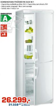Kombinovani frizider RK 6335 W/1