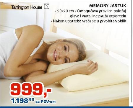 Memory jastuk 50x70cm