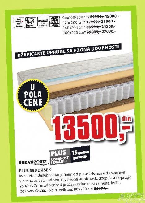 Dušek Plus S50 120x200