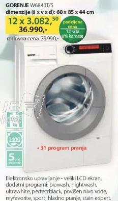 Mašina Za Pranje Veša W6843T/S