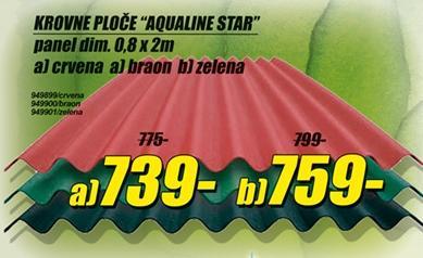 Krovne ploče Aqualine Star zelene