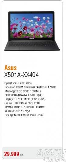 Laptop X501A-XX404
