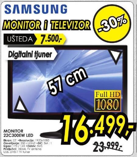 """Monitor LED 22"""" 22c300ew"""
