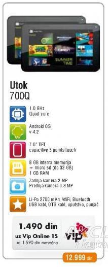 Tablet 700Q Utok