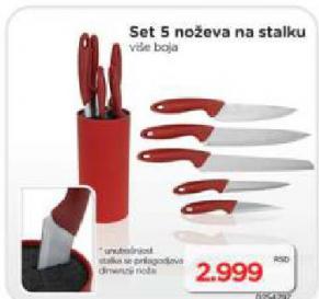 Set noževa na stalku