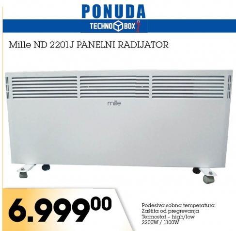 Panelni radijator Mille ND 2201J