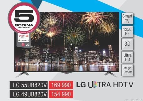 """Televizor LED 49"""" 3D 49ub820v"""