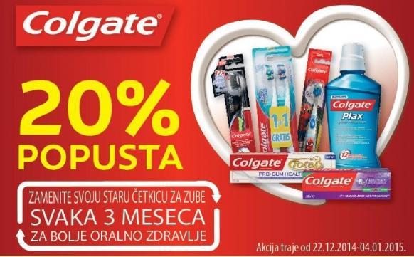 Sniženje na Colgate proizvode