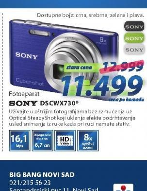 Fotoaparat DSCW730S