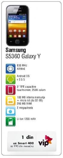 Mobilni telefon S5360 Galaxy Y