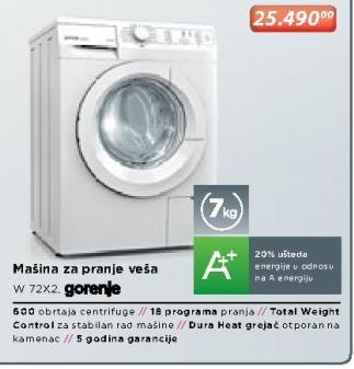 Mašina Za Pranje Veša W 72X2