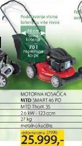 Motorna kosačica MTD Smart 46PO