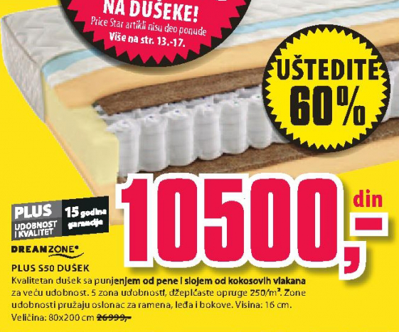 Dušek Plus S50 90x190/200cm