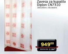Zavesa za kupatilo Diplon CN7310