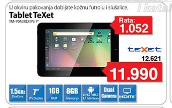 Tablet TeXet TM-7043XD IPS 7""