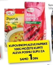 Aleva posna supa za samo 1 dinar