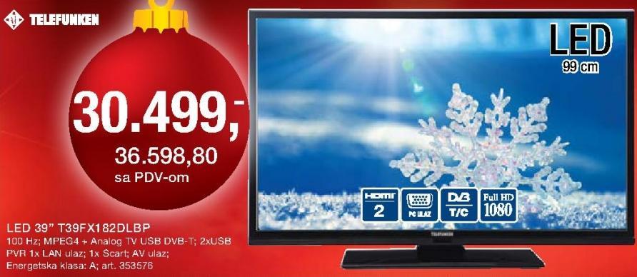 """Televizor LED 39"""" T39fx182dlbp"""