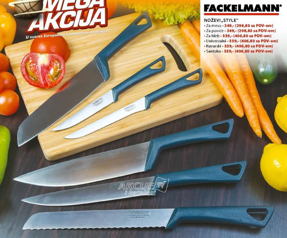 Noževi ''STYLE'' za povrće, FACKELMANN