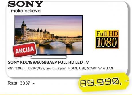 "Televizor LED 48"" KDL48W605BBAEP"