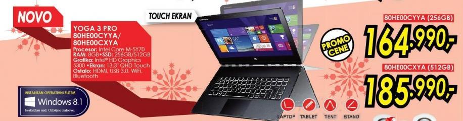 Laptop Yoga 3 Pro 80he00cxya