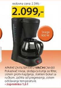 Aparat za filter kafu CM-001 Vinchi
