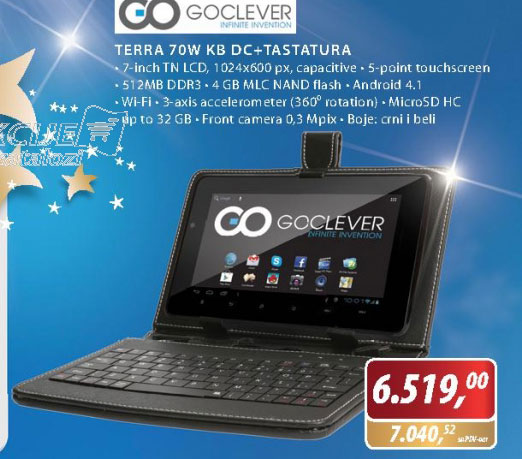 Tablet TERRA 70W KB