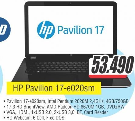 Laptop Pavilion 17-e020sm