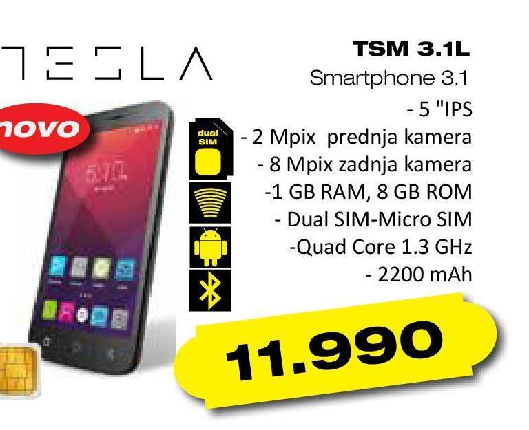 Telefon mobilni TSM 3.1 L