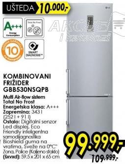 Kombinovani frižider Gbb8530nsqpb