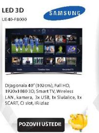 3D LED Televizor UE40-F8000