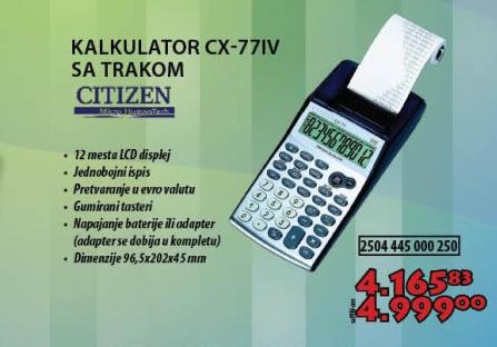 KALKULATOR CX-77IV SA TRAKOM