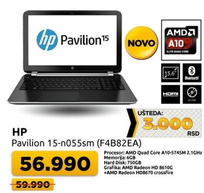 Laptop Pavilion 15-n055sm F4B82EA