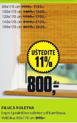 Roletna Filuca 60x170