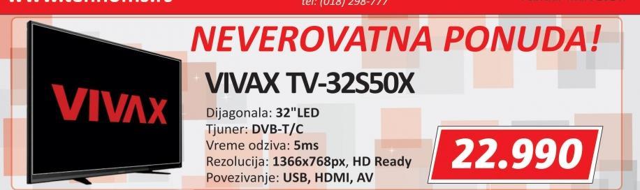 Televizor LED 32S50X