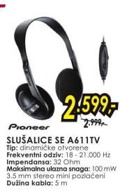 Slušalice SE-A611TV