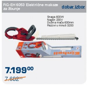 Električne makaze za živu ogradu RG-EH 6053 600W