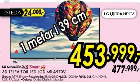 """Televizor LED 65"""" 3D 65la970v"""