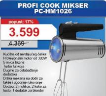 Profi Cook mikser PC HM 1026