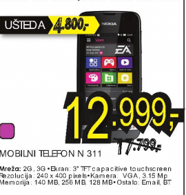 Mobilni telefon Asha N 311