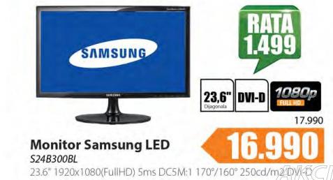 "Monitor 23.6"" S24B300BL"