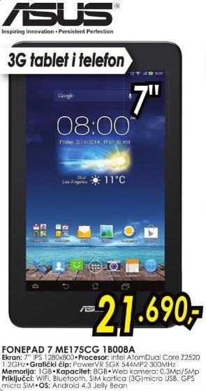 Tablet FonePad 7 Me175cg 1b008a