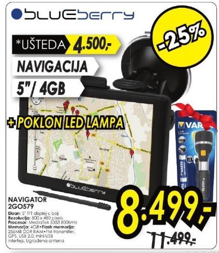 Navigator 2Go579 Poklon LED lampa