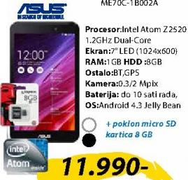 Tablet MemoPad ME70C-1B002A