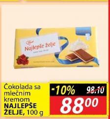 Čokolada mlečni krem
