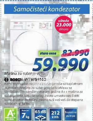 Mašina Za Sušenje Veša WTW84162