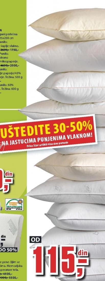Uštedite na jastucima punjenim vlaknom
